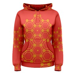 Pentagon Cells Chemistry Yellow Women s Pullover Hoodie