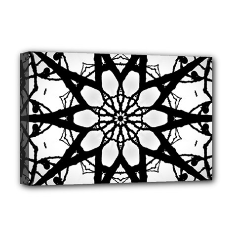 Pattern Abstract Fractal Deluxe Canvas 18  X 12
