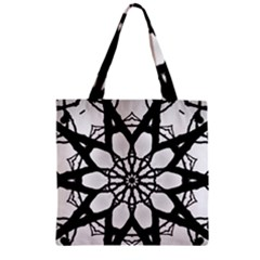 Pattern Abstract Fractal Zipper Grocery Tote Bag by Nexatart
