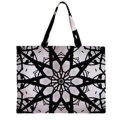 Pattern Abstract Fractal Zipper Mini Tote Bag by Nexatart