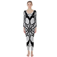 Pattern Abstract Fractal Long Sleeve Catsuit
