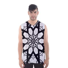 Pattern Abstract Fractal Men s Basketball Tank Top