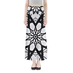 Pattern Abstract Fractal Maxi Skirts