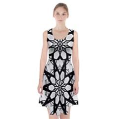 Pattern Abstract Fractal Racerback Midi Dress