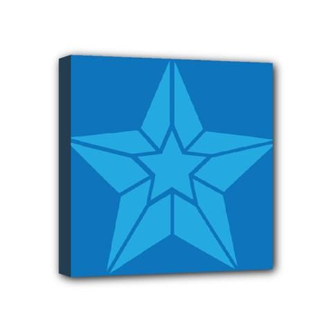 Star Design Pattern Texture Sign Mini Canvas 4  X 4