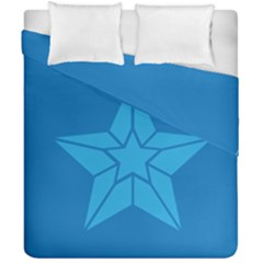 Star Design Pattern Texture Sign Duvet Cover Double Side (california King Size) by Nexatart