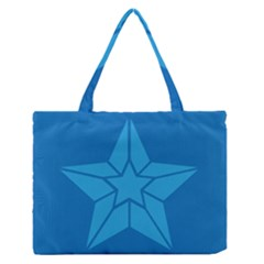 Star Design Pattern Texture Sign Medium Zipper Tote Bag