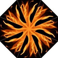 Fire Flame Pillar Of Fire Heat Straight Umbrellas