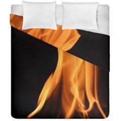 Fire Flame Pillar Of Fire Heat Duvet Cover Double Side (california King Size) by Nexatart