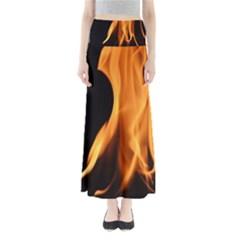 Fire Flame Pillar Of Fire Heat Maxi Skirts