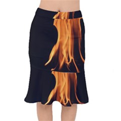 Fire Flame Pillar Of Fire Heat Mermaid Skirt by Nexatart