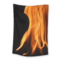 Fire Flame Pillar Of Fire Heat Small Tapestry by Nexatart