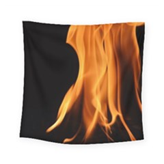 Fire Flame Pillar Of Fire Heat Square Tapestry (small) by Nexatart