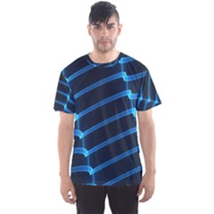 Background Light Glow Blue Men s Sports Mesh Tee
