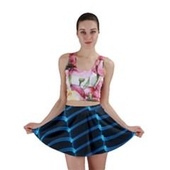 Background Light Glow Blue Mini Skirt