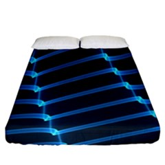 Background Light Glow Blue Fitted Sheet (california King Size)