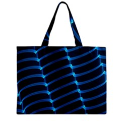 Background Light Glow Blue Zipper Mini Tote Bag by Nexatart