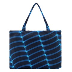Background Light Glow Blue Medium Tote Bag by Nexatart
