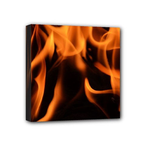 Fire Flame Heat Burn Hot Mini Canvas 4  X 4