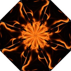 Fire Flame Heat Burn Hot Folding Umbrellas by Nexatart