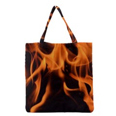 Fire Flame Heat Burn Hot Grocery Tote Bag by Nexatart
