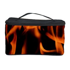 Fire Flame Heat Burn Hot Cosmetic Storage Case by Nexatart