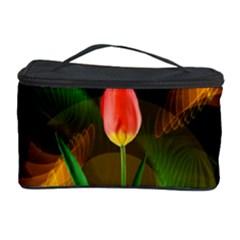 Tulip Flower Background Nebulous Cosmetic Storage Case by Nexatart