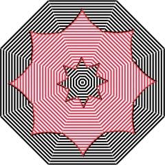 Heart Stripes Symbol Striped Folding Umbrellas by Nexatart