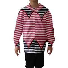 Heart Stripes Symbol Striped Hooded Wind Breaker (kids)