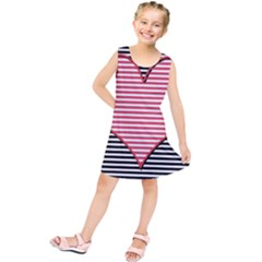 Heart Stripes Symbol Striped Kids  Tunic Dress