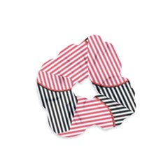 Heart Stripes Symbol Striped Velvet Scrunchie