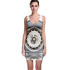 Flat Tire Vehicle Wear Street Sleeveless Bodycon Dress