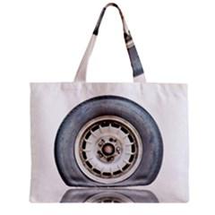 Flat Tire Vehicle Wear Street Zipper Mini Tote Bag