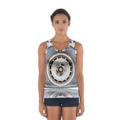 Flat Tire Vehicle Wear Street Women s Sport Tank Top