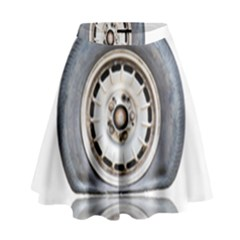 Flat Tire Vehicle Wear Street High Waist Skirt by Nexatart