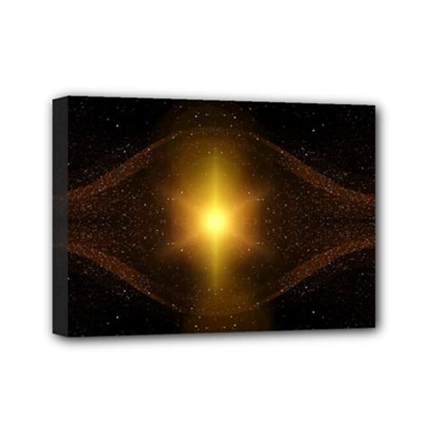 Background Christmas Star Advent Mini Canvas 7  X 5
