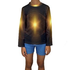 Background Christmas Star Advent Kids  Long Sleeve Swimwear