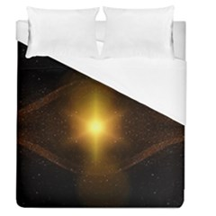 Background Christmas Star Advent Duvet Cover (queen Size)