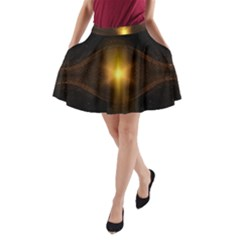Background Christmas Star Advent A Line Pocket Skirt by Nexatart