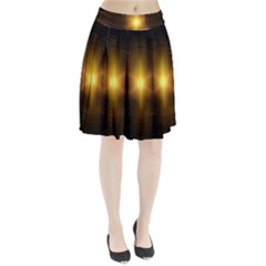 Background Christmas Star Advent Pleated Skirt