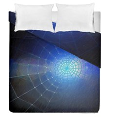 Network Cobweb Networking Bill Duvet Cover Double Side (queen Size) by Nexatart