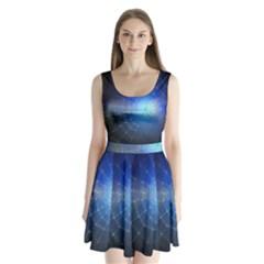 Network Cobweb Networking Bill Split Back Mini Dress