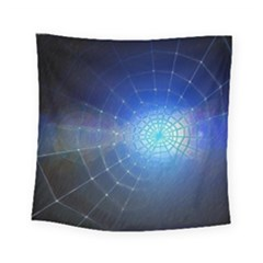 Network Cobweb Networking Bill Square Tapestry (small) by Nexatart