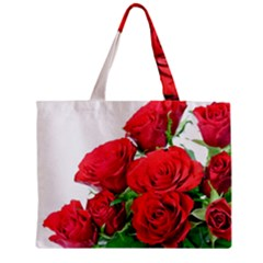 A Bouquet Of Roses On A White Background Mini Tote Bag