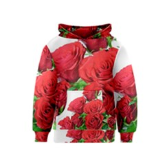 A Bouquet Of Roses On A White Background Kids  Pullover Hoodie