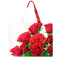 A Bouquet Of Roses On A White Background Zipper Large Tote Bag