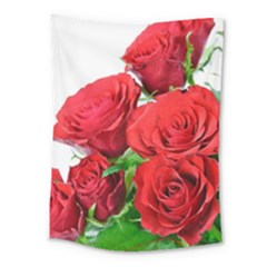 A Bouquet Of Roses On A White Background Medium Tapestry by Nexatart