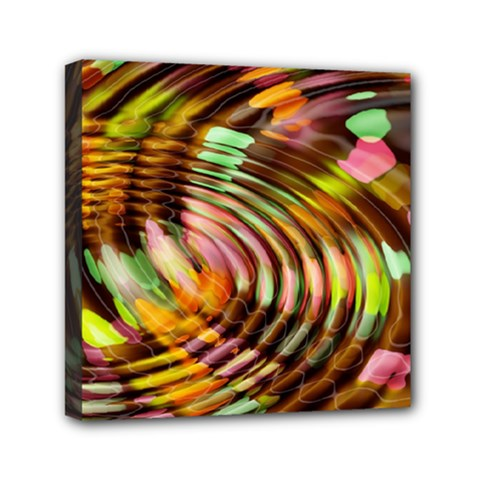 Wave Rings Circle Abstract Mini Canvas 6  X 6  by Nexatart