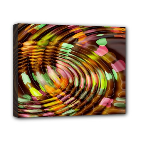 Wave Rings Circle Abstract Canvas 10  X 8  by Nexatart