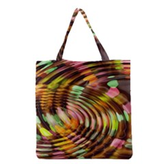 Wave Rings Circle Abstract Grocery Tote Bag